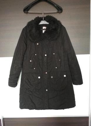 Черная куртка, пальто еврозима revolution