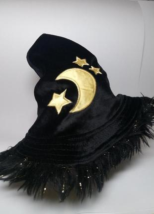 Шапка, колпачек маленькой ведьмочки, ночи, звездочета. карнавальные костюмы.