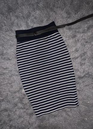Стильная юбка/морячка в полоску  всегда в моде бренд saint tropez