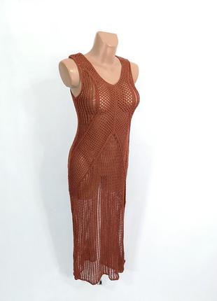 Платье сеточка primark, длинное