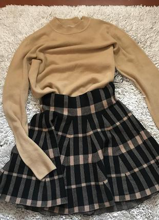 Тёплый набор на зиму костюм юбка кофта гольф