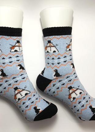 Женские зимние новогодние носки
