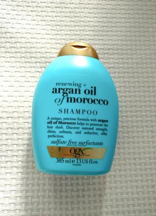 Восстанавливающий безсульфатный шампунь с аргановым маслом ogx argan oil of morocco