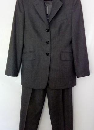 Костюм, удлиненный пиджак, зауженные брюки, высокая талия, windsor, ткань от loro piana