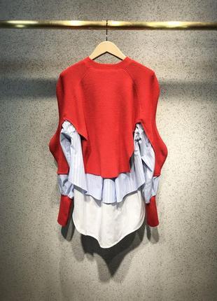 Интересный свитер 3 в 1 с рубашками