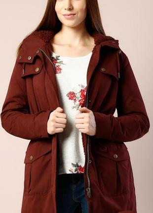 🌼 стильная юордовая куртка парка colin`s