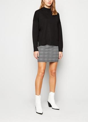 Новая юбка new look клетка тренд размер 10/38