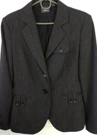 Пиджак женский мexx размер s серый, приталенный блейзер, накидка
