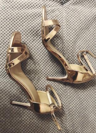 Модные женские босоножки на каблуке asos, на корпоратив, новый год