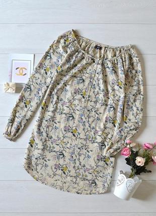 Красива котонова блуза в квіти f&f.
