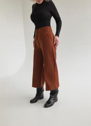 Тёплые зимние брюки кюлоты