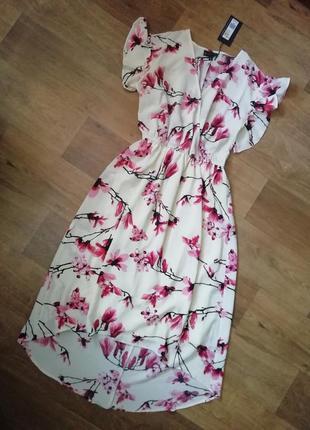 Шифоновое платье цветочный принт, сукня, сарафан