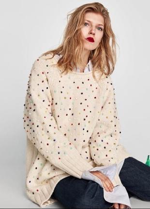 Шикарный свитер платье оверсайз zara