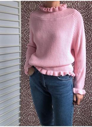 Красивый свитер с рюшами от boohoo