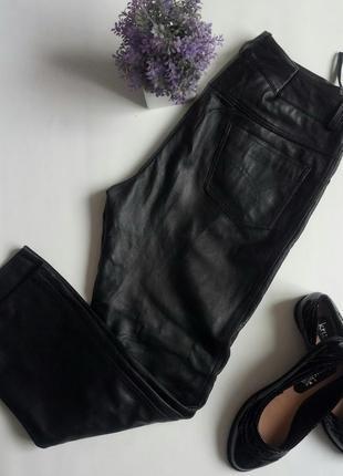 Ультрамодные брюки hide society, натуральная овечья кожа