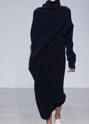 Шерстяная длинная юбка  не zara лама