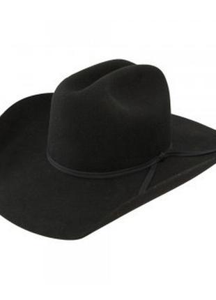 Чорний капелюх  brandford western,100% вовна, 60см