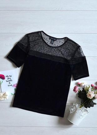 Стильна бархатна блуза new look.