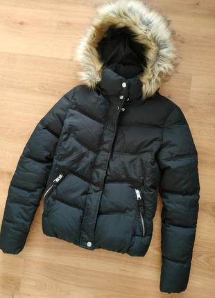 Фирменная теплая куртка пуховик bershka