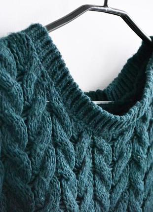 Вязаный свитер изумрудного цвета h&m