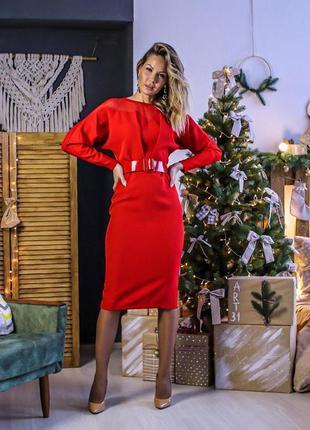 Элегантное стильное платье миди