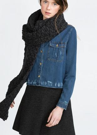 Комплект шапка и шарф zara оригинал из испании-распродажная цена