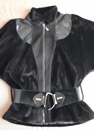 Тонкая шуба / куртка из меха / итальянская куртка