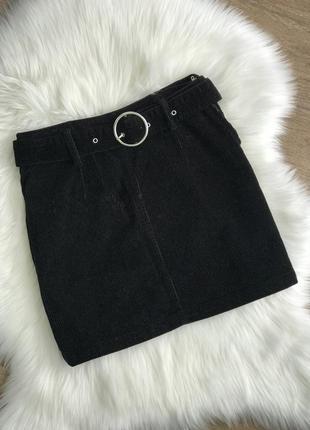 Юбка мини вельветовая тёплая, юбка вельвет