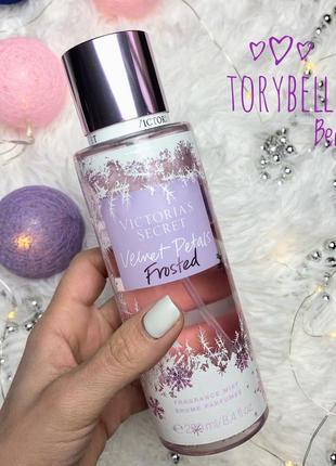 Парфюмированный мист спрей для тела victoria's secret velvet petals frosted