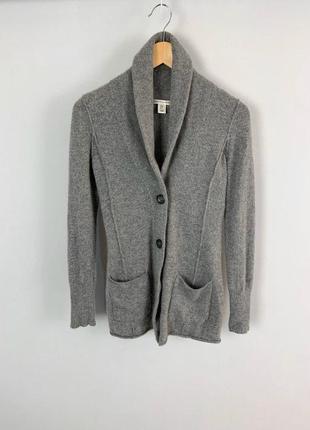 Серый кашемировый кардиган кофта на пуговицах
