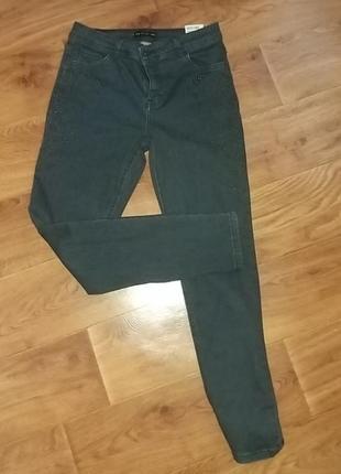 Женские черные джинсы скинни штаны с камушками