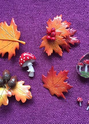 Набор брошей осень