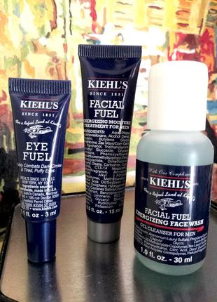 Набор мужской 3ед. - гель для умывания, флюид для лица, крем вокруг глаз kiehls