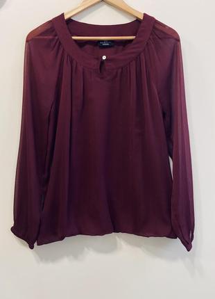 Блуза бордовая gina benotti p.40/42. #352. 1+1=3🎁