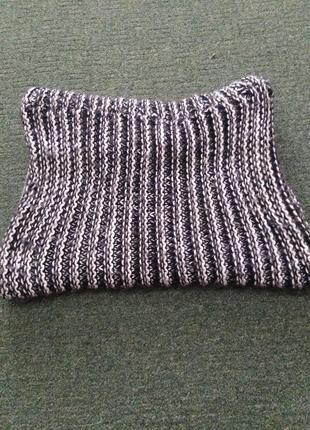 Крутий чоловічий шарф zara + шапка чорна