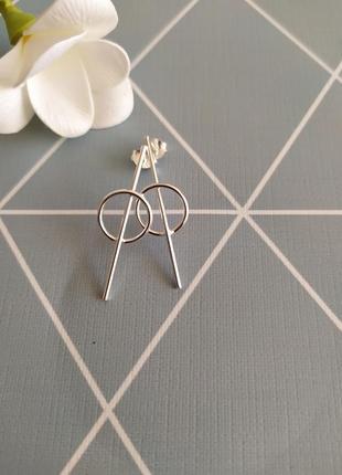 Срібні сережки підвіски, серьги подвески kingsley ryan с сайта asos
