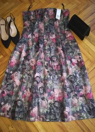 Вечернее коктельное платье без бретель, корсет