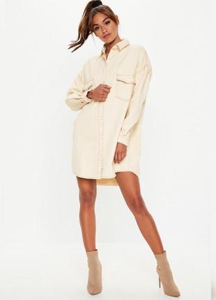 Джинсовое платье рубашка oversize missguided