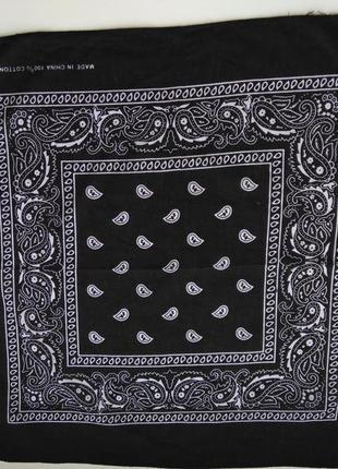 Платок черно-белый h&m