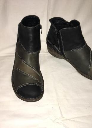 Ботинки утеплены *josef seibel* кожа германия р.41( 27.00 см)