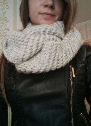 Теплый шарф, хомут, снуд