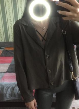 Модная блузка оливкового цвета🔥