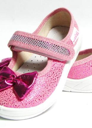 Тапочки капчики для девочки валди waldi для садика дома сменки бант