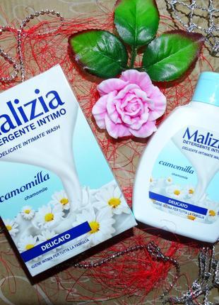 Деликатное интимное мыло ромашка malizia camomilla 200 ml