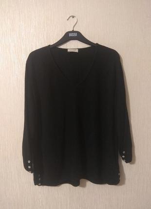 Базовый черный вязаный джемпер кофта большой размер peruna 5xl-7xl