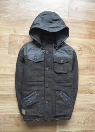 Теплое деми пальто
