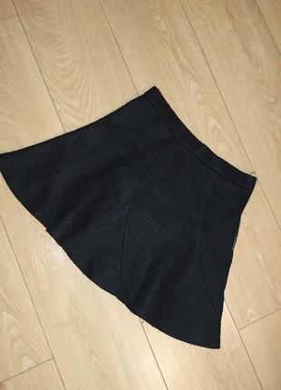 Твидовая клешная юбка zara