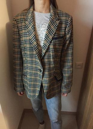 Пиджак в клетку tu 22 размер