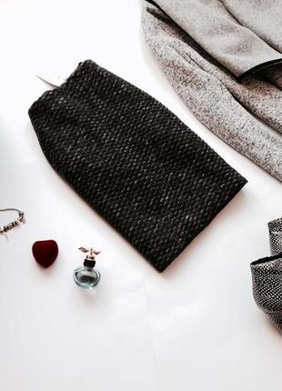 Шерстяная теплая зимняя юбка