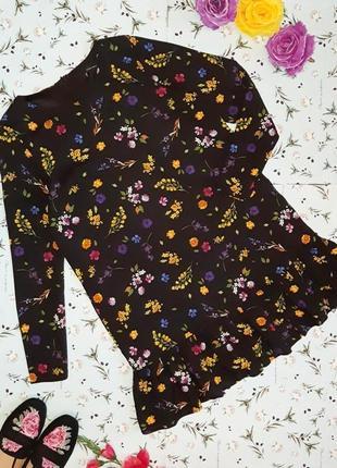 🎁1+1=3 модное трендовое черное прямое платье zara в цветочный принт, размер 44 - 46